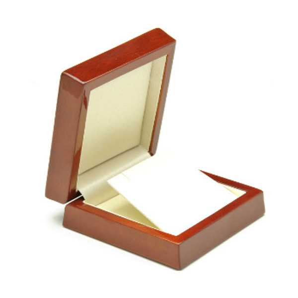 Mahogany Wooden Gift Box for Pendant or Drop Earrings