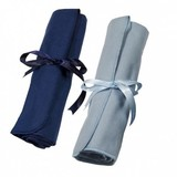Town Talk Superior 7-Piece Silver Cutlery Storage Roll (26cm) - Silver Blue