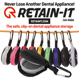 Retain-It™ - Black Neoprene with Black Zipper and Carabiner