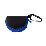 Retain-It™ - Black Neoprene with Blue Zipper and Carabiner