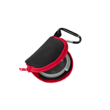 Retain-It™ - Black Neoprene with Red Zipper and Carabiner