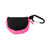 Retain-It™ - Black Neoprene with Pink Zipper and Carabiner