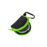 Retain-It™ - Black Neoprene with Green Zipper and Carabiner