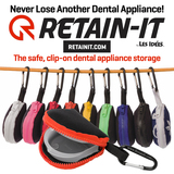 Retain-It™ - Black Neoprene with Orange Zipper and Carabiner