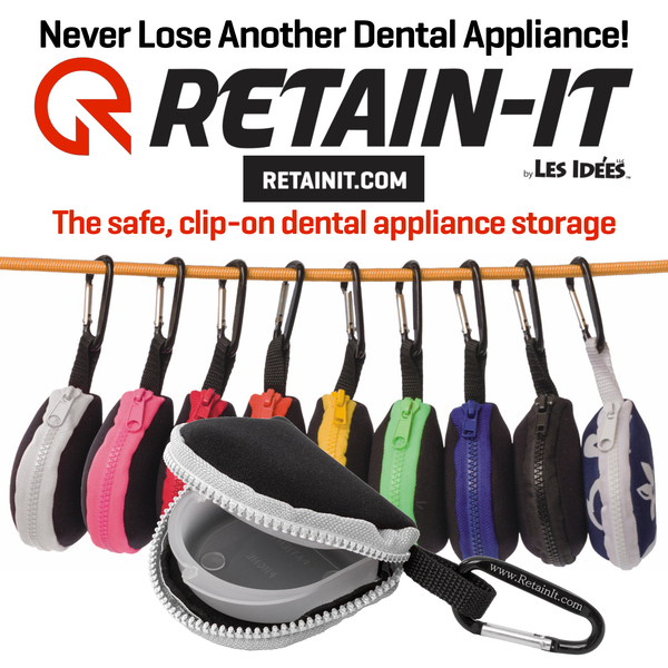 Retain-It™ - Black Neoprene with White Zipper and Carabiner