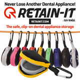 Retain-It™ - Black Neoprene with Yellow Zipper and Carabiner