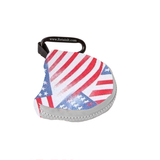 Retain-It™ - USA Flag Print Neoprene with White Zipper and Carabiner