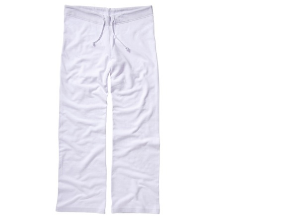 Bella+Canvas BE079 Ladies Fleece Straight Leg Sweat Pant WHITE Medium (UK: 10-12)