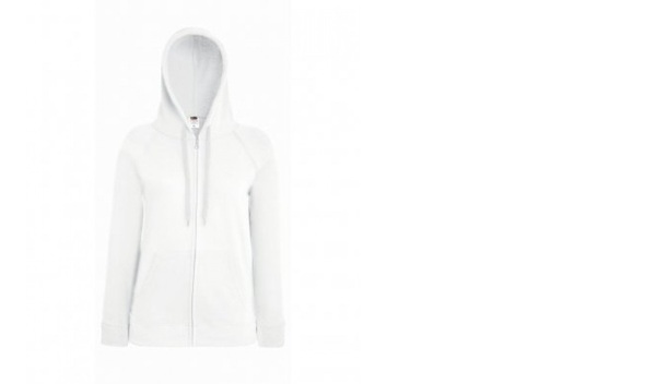 Fruit Of The Loom Ladyfit Full Zip Hoodie WHITE Medium (12)