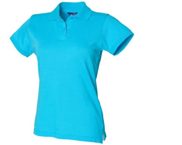 Henbury H306 Women's Stretch Piqué Polshirt Turquoise Large (UK:14)