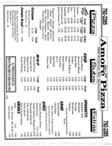 Menus & Prices, Amore Pizza - NY, Queensbury
