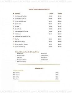 Menus & Prices, Croom�??s Catering & BBQ, Chula Vista