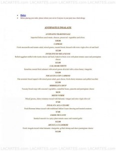 Menus & Prices, Antico Forno, Boston