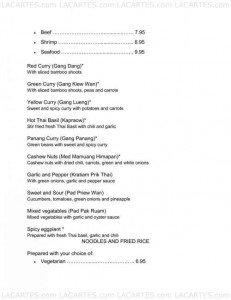 Menus & Prices, Aroy-D - Fresh Thai Grill, El Cajon