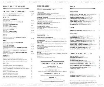 Menus & Prices, Haddingtons, Austin