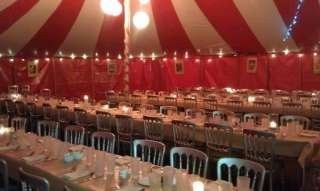 marquee seating trestle tables, Bigtopmania, Launceston