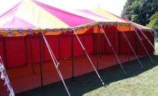 red and yellow marquee  tent hire, Bigtopmania, Launceston