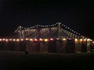 led festoon lighting hire, Bigtopmania, Launceston