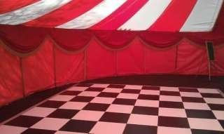 theatrical red velvet event decor, Bigtopmania, Launceston