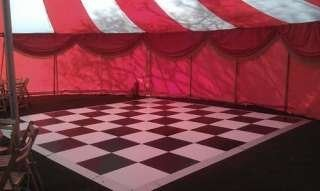 black and white dance floor hire, Bigtopmania, Launceston