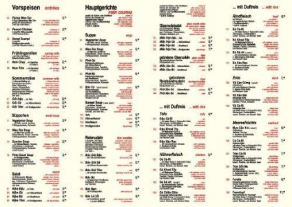 Menus & Prices, Tonkin - Vietnamese Cuisine - Bubble Tea Bar, Berlin