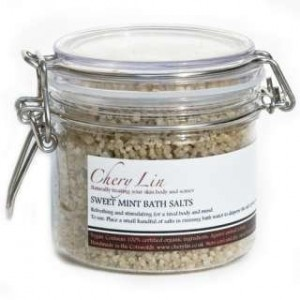 Sweet Mint bath salts, Chery Lin Skin Therapy, Tetbury