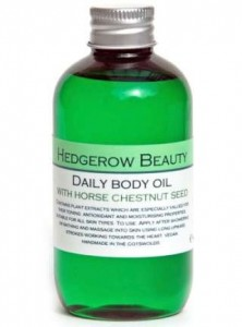 Hedgerow Beauty daily body oil, Chery Lin Skin Therapy, Tetbury