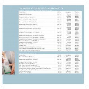 Menus & Prices, FeF Chemicals A/S, Koege