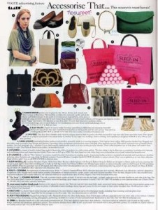 Appeared in Vogue U.K.'s November Issue as one of the seasons must have fashion accessories, Rosy Toes Designs, Laura