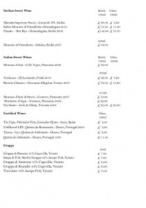 Menus & Prices, Mennula, London