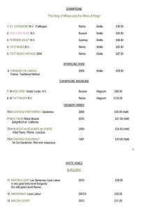 Menus & Prices, Vats Wine Bar & Restaurant, London