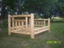 A Rustic Log Handcrafted Log Furniture, Lisle