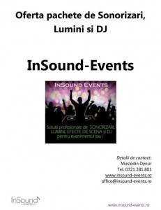 Menus & Prices, Insound-events, bucuresti