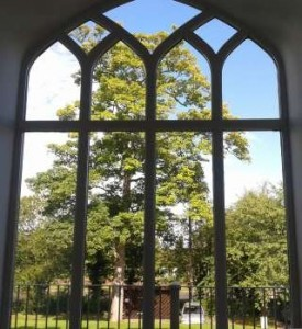Hawkesyard Estate Staffordshire Wedding Venue - view from the Orangery reception, Hawkesyard Hall and Hawkesyard Golf Club,  Nr Lichfield 