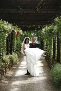 Hawkesyard Estate Staffordshire Wedding Venue Bridal Walkway, Hawkesyard Hall and Hawkesyard Golf Club,  Nr Lichfield 