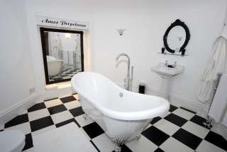 Hawkesyard Estate Staffordshire Wedding Venue Bridal Suite Bathroom, Hawkesyard Hall and Hawkesyard Golf Club,  Nr Lichfield 