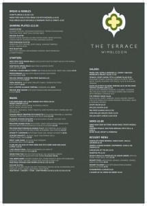 Menus & Prices, The Terrace Wimbledon, London