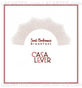Menus & Prices, Casa Lever, New York City