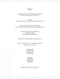 Menus & Prices, Colicchio and Sons New York, New York City