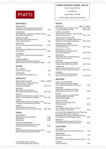 Menus & Prices, Piatti Ristorante and Bar San Antonio, San Antonio