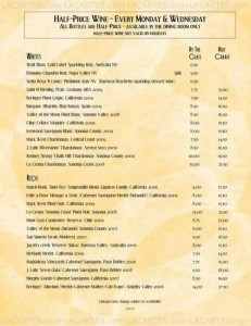 Menus & Prices, Bistro West, Carlsbad