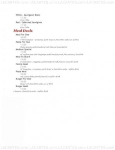 Menus & Prices, Bullys Restaurant, Douglas