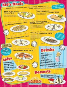 Menus & Prices, Acapulco Mexican Restaurant, Moreno Valley