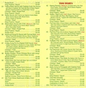 Menus & Prices, Lotus, South Croydon