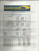 Pricelists of FAIRVIEW ROOFING DISTRIBUTION INC.