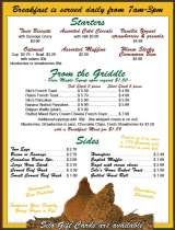 Pricelists of The Silo Restaurant & Gift Shop - NY