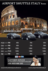 Pricelists of AIRPORT SHUTTLE ITALY