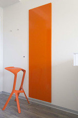 Colour matched electric wall panel heater