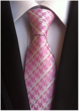 Handmade Neck TIE // PINK AND WHITE STRIPES
