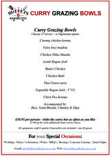 Pricelists of Buffets & Barbecues